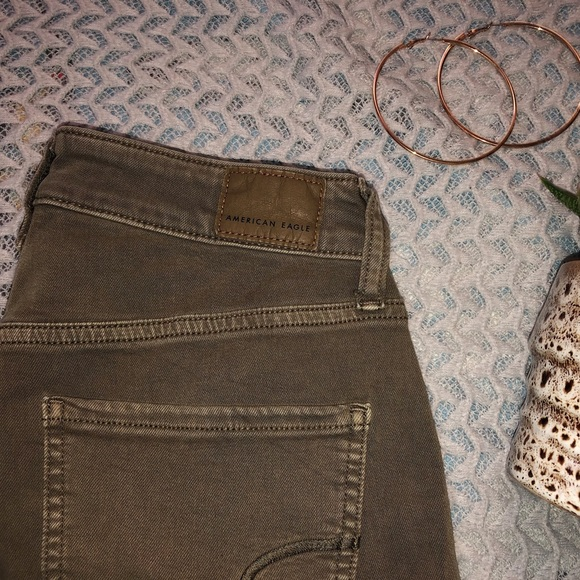 American Eagle skinny button fly jeggings
